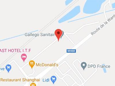 Plan situer Gallego Sanitaire